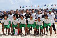 FIFA BEACH SOCCER WORLD CUP 2008 SPAIN - MEXICO   20.07.2008 Team picture (MEX, only players named). Back row (l-r): Gustavo ROSALES, Miguel ESTRADA, Francisco VARGAS, Antonio IRIARTE, Israel SANTOYO, Ivan MEDINA, Christopher FLORES, JOSE LUIS NAVARRETE, Oscar GONZALEZ, Adrian ALVARADO, Isaac RODRIGUEZ, Ricardo VILLALOBOS (MEX).