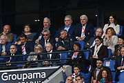 Jean Michel Aulas and Corinne Diacre during the UEFA Women's Champions League, semi final, 2nd leg football match between Olympique Lyonnais and Manchester City on April 29, 2018 at Groupama stadium in Décines-Charpieu near Lyon, France - Photo Romain Biard / Isports / ProSportsImages / DPPI