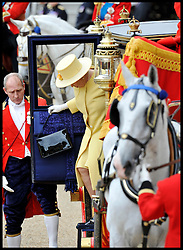 HM The Queen and The Duke of Edinburgh attend the Queen's Trooping of the Colour, The Queen's Birthday Parade, on Horse Guards Parade, Saturday June 16, 2012. Photo by Andrew Parsons/i-Images..All Rights Reserved ©Andrew Parsons/i-Images .See Special Instructions