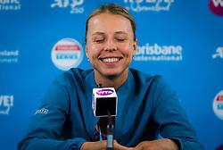January 2, 2019 - Brisbane, AUSTRALIA - Anett Kontaveit of Estonia talks to the media after winning her second-round match at the 2019 Brisbane International WTA Premier tennis tournament (Credit Image: © AFP7 via ZUMA Wire)