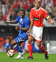 20091022: LISBON, PORTUGAL - SL Benfica vs Everton: Europa League 2009/2010 - Group Stage. In picture: Luisao and Ayegbeni Yakubu. PHOTO: Alexandre Pona/CITYFILES