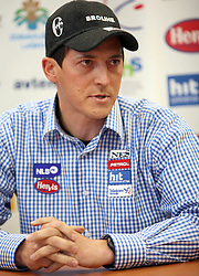 Rasto Aznoh, director of Slovenian alpine teams at the press conference at Ski federation of Slovenia in Ljubljana on February 5th, 2008. (Photo by Vid Ponikvar / Sportal Images).
