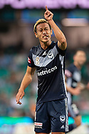SYDNEY, AUSTRALIA - APRIL 06: Melbourne Victory midfielder Keisuke Honda (4) yells at one of his players at round 24 of the Hyundai A-League Soccer between Sydney FC and Melbourne Victory on April 06, 2019, at The Sydney Cricket Ground in Sydney, Australia. (Photo by Speed Media/Icon Sportswire)