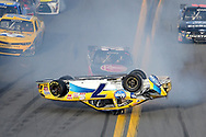 during a NASCAR Xfinity series auto race at Daytona International Speedway, Saturday, Feb. 21, 2015, in Daytona Beach, Fla.(AP Photo/Phelan M. Ebenhack)