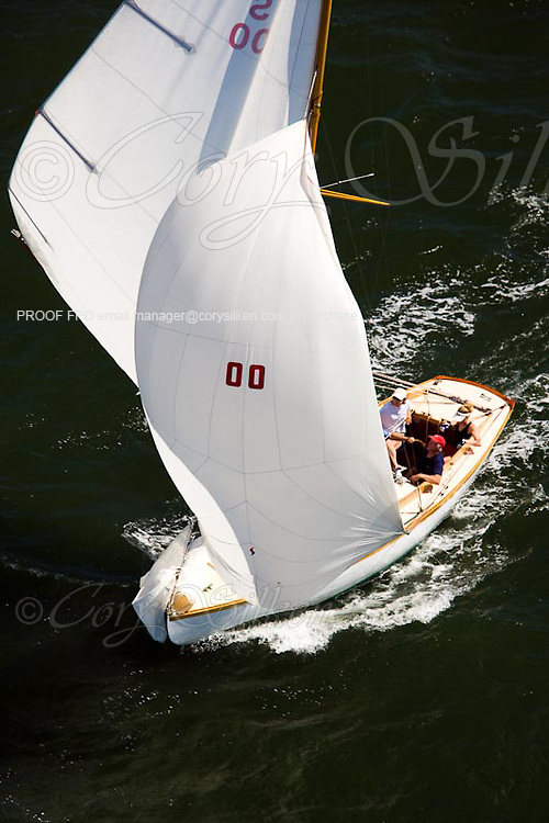 S Class Firefly racing at the Museum of Yachting Classic Yacht Regatta