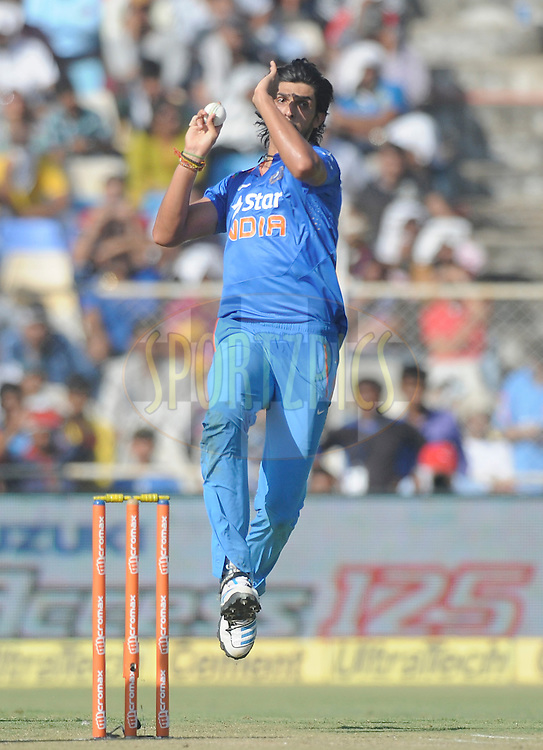Ishant Sharma of India bowls during the 2nd One Day International, ODI, between India and Sri Lanka held at the Sardar Patel Stadium, Ahmedabad, India on the 6th November 2014<br /> <br /> Photo by:  Pal Pillai/ Sportzpics/ BCCI