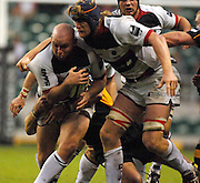 Twickenham, GREAT BRITAIN, Saracens, Matt CAIRNS, with the ball is supported by Hugh VYVYAN,  during the  London Double Header, London Wasps vs Saracens match at Twickenham Stadium. England, Sat 15.09.2007  [Mandatory Credit, Peter Spurrier/Intersport-images].....