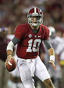 TUSCALOOSA, AL - NOVEMBER 10:  Quarterback AJ McCarron #10 of the Alabama Crimson Tide runs during the game against the Texas A&M Aggies at Bryant-Denny Stadium on November 10, 2012 in Tuscaloosa, Alabama.  (Photo by Mike Zarrilli/Getty Images)