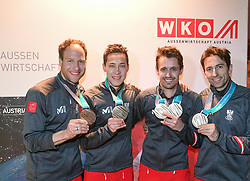 23.02.2018, Austria House, Pyeongchang, KOR, PyeongChang 2018, Medaillenfeier, im Bild Team Kombi Denifl, Klapfer, Seidlund, Gruber // Team Kombi Denifl, Klapfer, Seidlund, Gruber during a medal celebration of the Pyeongchang 2018 Winter Olympic Games at the Austria House in Pyeongchang, South Korea on 2018/02/23. EXPA Pictures © 2018, PhotoCredit: EXPA/ Erich Spiess