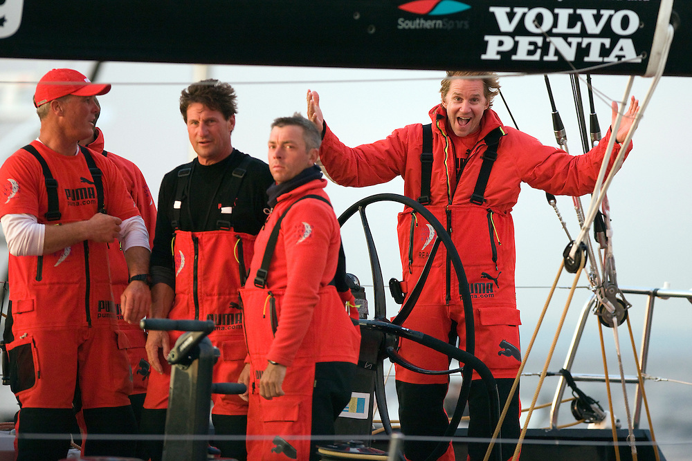 EDITORIAL USE only, please credit Sally Collison/PUMA Ocean Racing.27JUN09 PUMA Ocean Racing finish the final Leg 10 of the VOR 08-09 in St Petersburg in 2nd place, clinching the position of second overall in the Volvo Ocean Race 2008-09