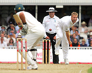Photo © ANDREW FOSKER / SPORTZPICS 2008 - Andrew Flintoff bowls over the wicket to Graeme Smith - England v South Africa - 07/08/08 - Fourth nPower Test Match -  Day 1 - The Brit Oval - London - UK - All rights reserved