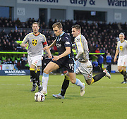 Dundee's Greg Stewart bursts away from St Mirren's Jason Naismith -  St Mirren v Dundee, SPFL Premiership at St Mirren Park <br /> <br /> <br />  - &copy; David Young - www.davidyoungphoto.co.uk - email: davidyoungphoto@gmail.com