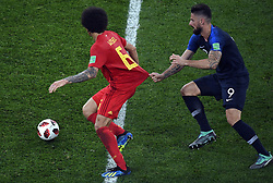 July 10, 2018 - Saint-Petersburg, RUSSIA - Belgium's Axel Witsel and France's Olivier Giroud pictured in action during the semi final match between the French national soccer team 'Les Bleus' and Belgian national soccer team the Red Devils, in Saint-Petersburg, Russia, Tuesday 10 July 2018. ..BELGA PHOTO LAURIE DIEFFEMBACQ (Credit Image: © Laurie Dieffembacq/Belga via ZUMA Press)