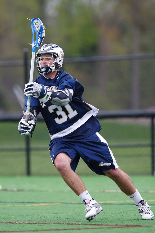 May 1, 2009:    #31 Oppenheimer, Jack of Quinnipiac in action during the NCAA Lacrosse game between Notre Dame and Quinnipiac at GWLL Tournament in Birmingham, Michigan. (Credit Image: Rick Osentoski/Cal Sport Media)