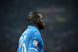 January 26, 2019 - Milan, Milan, Italy - Kalidou Koulibaly #26 of SSC Napoli during the serie A match between AC Milan and SSC Napoli at Stadio Giuseppe Meazza on January 26, 2018 in Milan, Italy. (Credit Image: © Giuseppe Cottini/NurPhoto via ZUMA Press)
