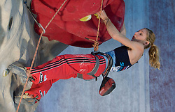 Climber Mina Markovic (SLO) at World cup competition in Zlato polje, Kranj, Slovenia, on November 15, 2008.  (Photo by Vid Ponikvar / Sportida)