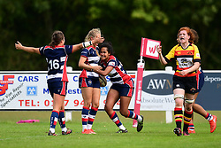 Lagi Tuima of Bristol Ladies celebrates scoring her sides third try - Mandatory by-line: Craig Thomas/JMP - 17/09/2017 - Rugby - Cleve Rugby Ground  - Bristol, England - Bristol Ladies  v Richmond Ladies - Women's Premier 15s