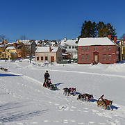 Dog sled rides at Strawbery Banke Museum