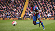 Pape Souare goes on the attack during the Barclays Premier League match between Crystal Palace and West Ham United at Selhurst Park, London, England on 17 October 2015. Photo by Michael Hulf.