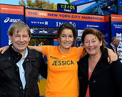 02-11-2013 ALGEMEEN: BVDGF NY MARATHON: NEW YORK <br /> Parcours verkenning en laatste training in het Central Park / Jessie<br /> ©2013-FotoHoogendoorn.nl