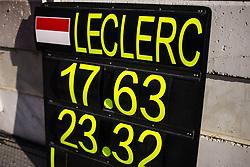 February 21, 2019 - Barcelona, Catalonia, Spain - Charles Leclerc from Monaco with 16 of Scuderia Ferrari Mission Winnow SF90 information board during the Formula 1 2019 Pre-Season Tests at Circuit de Barcelona - Catalunya in Montmelo, Spain on February 21. (Credit Image: © Xavier Bonilla/NurPhoto via ZUMA Press)