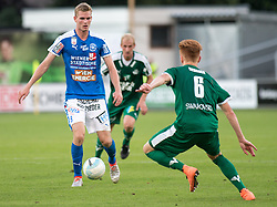 29.07.2016, Gernot Langes Stadion, Wattens, AUT, 2. FBL, WSG Wattens vs Floridsdorfer AC, 2. Runde, im Bild v.l.n.r.: Thomas Hirschhofer (Floridsdorfer AC), Martin Svejnoha (WSG Wattens) und Christian Gebauer (WSG Wattens) // during second Austrian Bundesliga 2nd round match between WSG Wattens and Floridsdorfer AC, at the Gernot Langes Stadion in Wattens, Austria on 2016/07/29. EXPA Pictures © 2016, PhotoCredit: EXPA/ Jakob Gruber