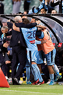 SYDNEY, NSW- NOVEMBER 21: Sydney FC celebrate the win at the FFA Cup Final Soccer between Sydney FC and Adelaide United on November 21, 2017 at Allianz Stadium, Sydney. (Photo by Steven Markham/Icon Sportswire)