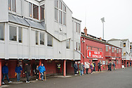 A general view of the outside of the stadium before the Sky Bet League 2 match at Bootham Crescent, York<br /> Picture by Russell Hart/Focus Images Ltd 07791 688 420<br /> 14/11/2015