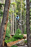 Downhill biker, Breckenridge, CO.