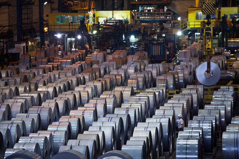 Volta Redonda_RJ, Brasil...CSN (Companhia Siderurgica Nacional) Em Volta Redonda, Rio de Janeiro...CSN (National Steel Company) in Volta Redonda, Rio de Janeiro...Foto: JOAO MARCOS ROSA / NITRO