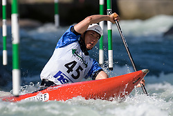 Fa HUANG of China during the Canoe Single (C1) Men SemiFinal race of 2019 ICF Canoe Slalom World Cup 4, on June 28, 2019 in Tacen, Ljubljana, Slovenia. Photo by Sasa Pahic Szabo / Sportida
