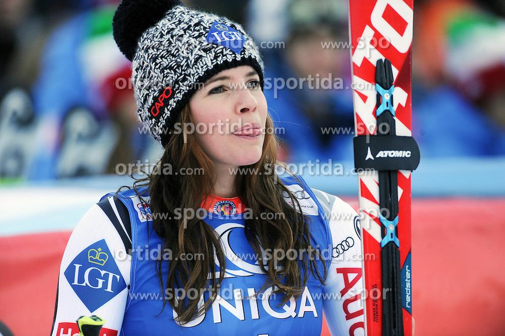 28.12.2015, Hochstein, Lienz, AUT, FIS Weltcup Ski Alpin, Lienz, Riesenslalom, Damen, 2. Durchgang, im Bild Tina Weirather (LIE) // Tina Weirather of Liechtenstein reacts after 2nd run of ladies Giant Slalom of the Lienz FIS Ski Alpine World Cup at the Hochstein in Lienz, Austria on 2015/12/28. EXPA Pictures © 2015, PhotoCredit: EXPA/ Erich Spiess