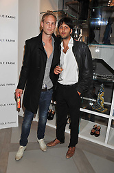 Left to right, JACK FOX and SHAZAD LATIF at a party to celebrate the opening of the new Nicole Farhi global flagship store at 25 Conduit Street, London W1 on 19th September 2011.