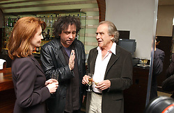 Left to right, actress JANE ASHER, film director TIM BURTON and  GERALD SCARFE at a party to celebrate the opening of Maze - a new Gordon Ramsay restaurant at 10-13 Grosvenor Square, London W1 on 24th May 2005.<br />