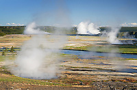 Midway Geyser Basin, Yellowstone National Park Wyoming