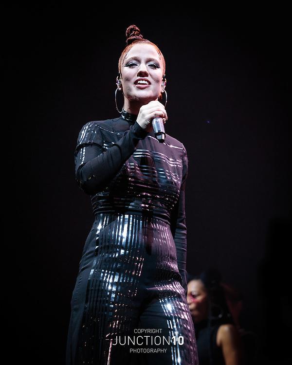 Jess Glynne in concert at the Genting Arena, Birmingham, United Kingdom<br /> Picture Date: 18 November, 2016