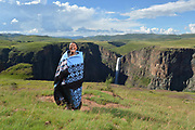 Basutho blanket fashion in the mountain kingdom of Lesotho. The smile made this photo.