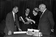 "17/12/1962<br /> 12/17/1962<br /> 17 December 1962<br /> Presentation of Packaging Awards at the Shelbourne Hotel, Dublin. Leo (Ireland) Ltd. had won the ""Eurostar"" international award for packaging. Picture shows (l-r0: Mr. B. Schou Lund; Mr. W.H. Walsh; Mrs R. Walker and Mr. I.W. Robertson, joint managing director of Hely-Thom Ltd, by whom the winning packs were printed."