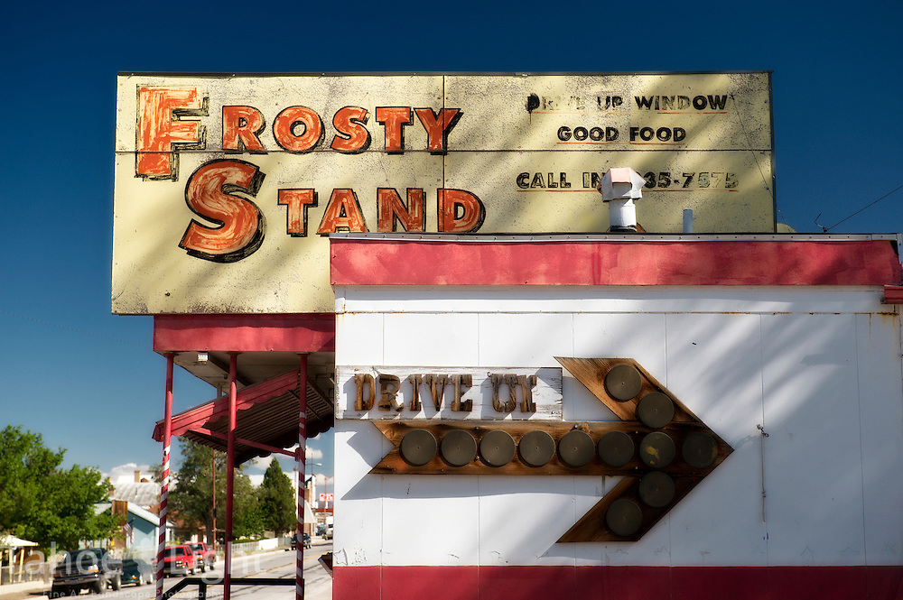 The abandoned Frosty Stand in McGill, Nevada just north of Ely on Highway 50.
