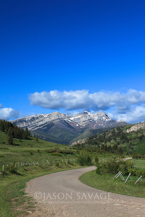 Montana Backroad on the Rocky Mountain Front.