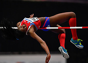Yorgelis Rodriguez (CUB) approaches the bar in the Women's High Jump final during the IAAF World Indoor Championships at Arena Birmingham in Birmingham, United Kingdom on Thursday, Mar 1, 2018. (Steve Flynn/Image of Sport)