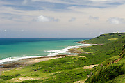 The southern east coast of Taiwan as seen from Kenting National Park.