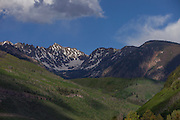 Gore Mountain Range View From Vail, Colorado, Spring