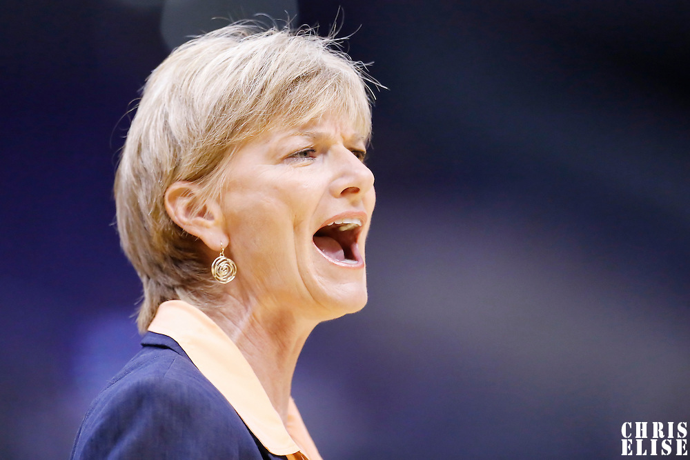 25 May 2014: Los Angeles Sparks head coach Carol Ross is seen during the Los Angeles Sparks 83-62 victory over the San Antonio Stars, at the Staples Center, Los Angeles, California, USA.