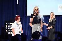 Munroe Bergdorf on stage during the O2 Silver Clef Awards 2019, Grosvenor House, London, UK, Friday 05 July 2019<br /> Photo JM Enternational