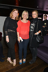 Left to right, SARAH BROWN, BEC ASTLEY CLARKE and LAURA BAILEY at a party to celebrate the Astley Clarke & Theirworld Charitable Partnership held at Mondrian London, Upper Ground, London on 10th March 2015.