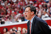 BLOOMINGTON, IN - FEBRUARY 19: Indiana Hoosiers head coach Tom Crean looks on against the Northwestern Wildcats during a Big Ten Conference game at Assembly Hall on February 19, 2011 in Bloomington, Indiana. Northwestern defeated Indiana 70-64. (Photo by Joe Robbins) *** Local Caption *** Tom Crean
