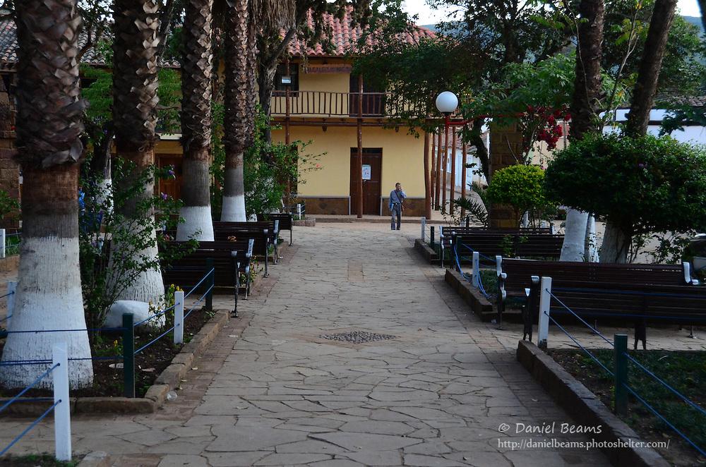 Plaza view in Samaipata, Bolivia