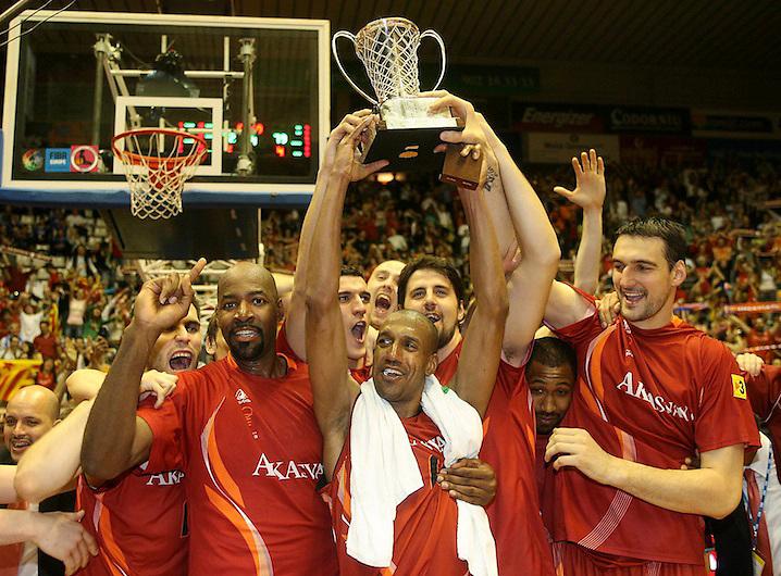 TEMA: FIBA CUP. FINAL. AKASVAYU CAMPEON..LUGAR: GIRONA..FECHA: 15/04/07..FOTO: EDDY KELELE.