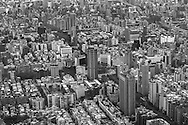 Taipei urban jungle from atop Taipei 101. Taiwan, Republic of China, Asia